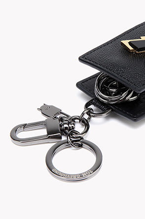 Lightning bolt leather key case